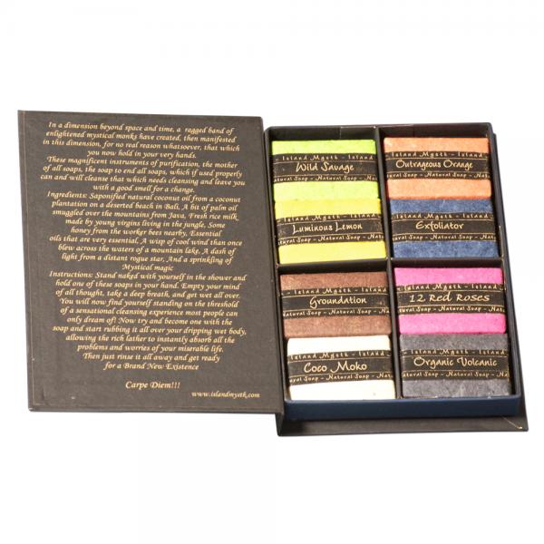 Seifenbuch mit 8 Seifen á 30g aus Kokosöl - handgemacht aus Bali von Island Mystk