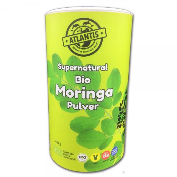 Bio Moringa Pulver 400g Dose - Rohkost supernatural aus Bali