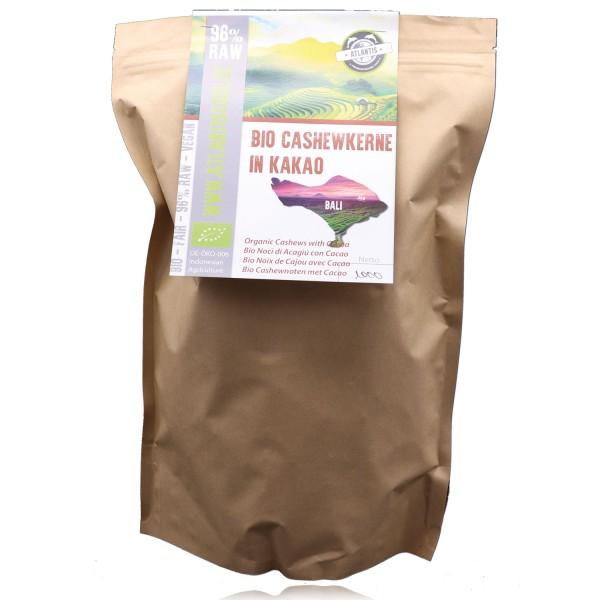 Bio Cashewkerne in Kakao 1kg - Neue Rezeptur