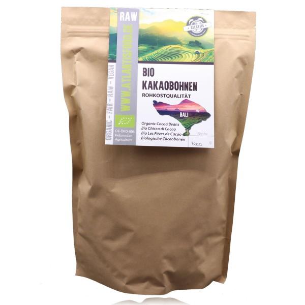 Bio Kakaobohnen 1kg - Rohkost ungeschält