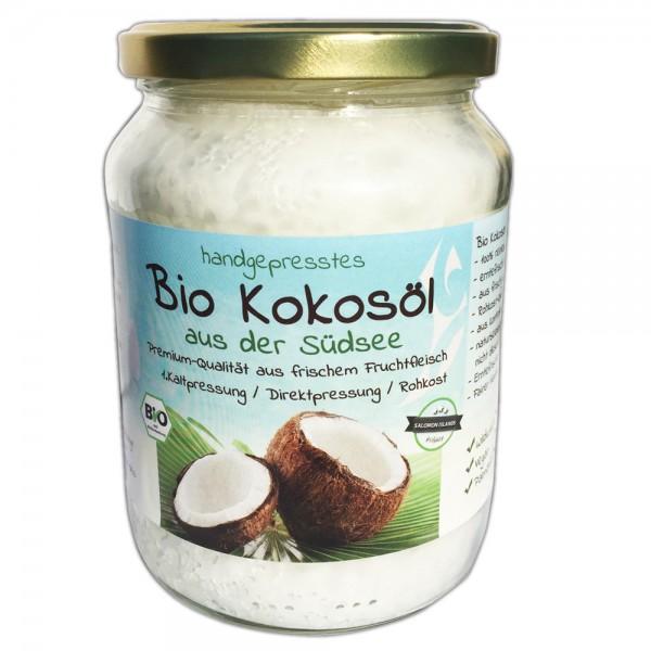 Bio Südsee Kokosöl handgepresst Rohkost 680ml