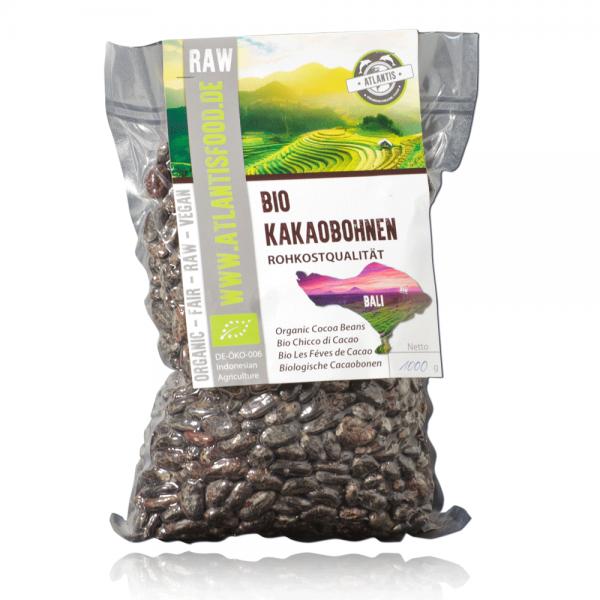 Bio Kakaobohnen 1kg - Rohkost