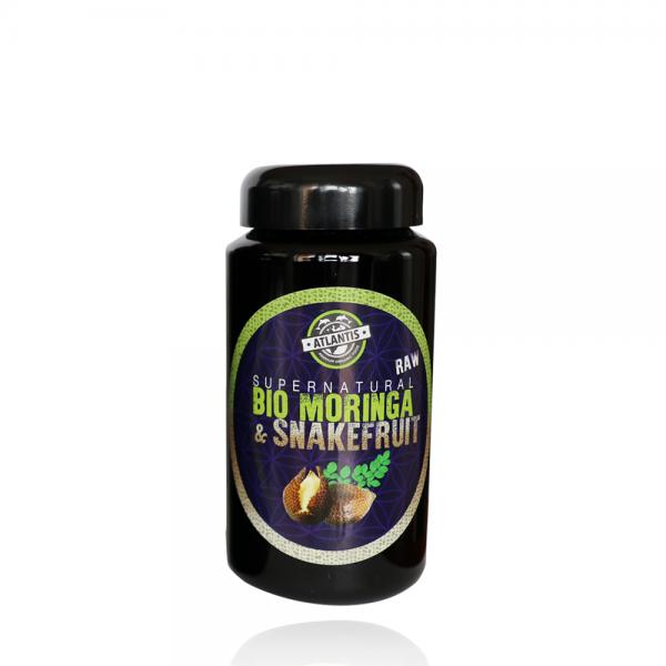 Bio Moringa & Snakefruitpulver 200g im Violettglas - RAW