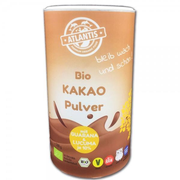 Bio Kakaopulver mit Guarana und Lucuma 500g Dose - Rohkost