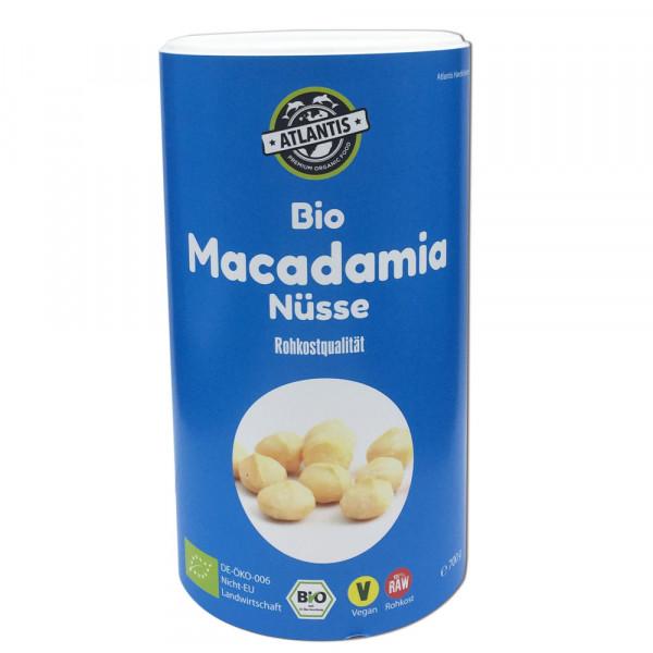 Bio Macadamia Nüsse 700g Dose Rohkost